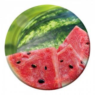 8 kleine Teller Wassermelone