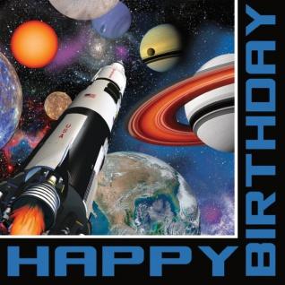 16 Geburtstags Servietten Weltraum Mission