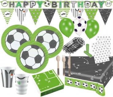 XXL 96 Teile Party Deko Set Fußball Kicker Party 8 Kinder