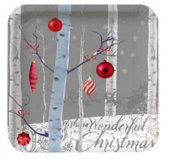 8 Teller Weiße Weihnacht