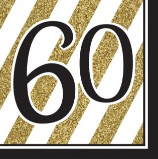 27 tlg. Party Deko Set zum 60. Geburtstag oder Jubiläum in Schwarz & Gold - Vorschau 2