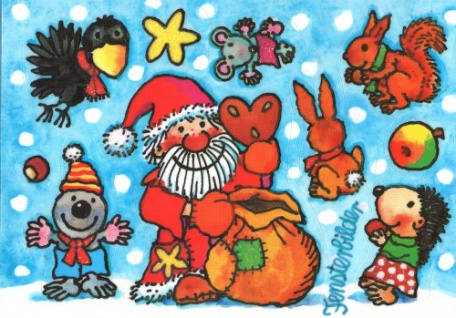 Fensterbild Postkarte Nikolaus