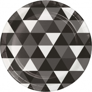 32 Teile Party Deko Set Schwarz Fractals für 8 Personen - Vorschau 2