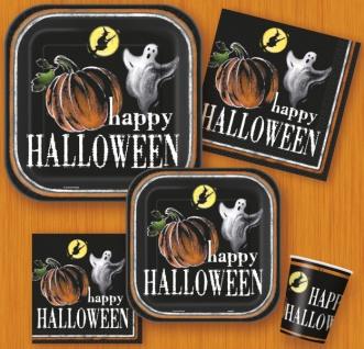 8 Halloween Papp Teller Kürbis Geister - Vorschau 2