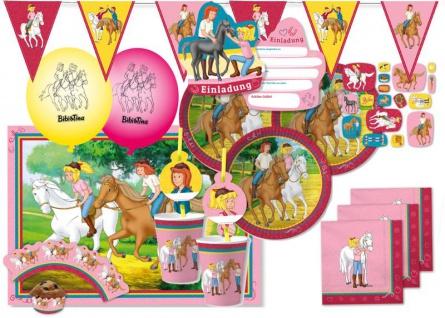 XXL 78 Teile Bibi und Tina Party Deko Set - für 6-8 Kinder Geburtstag