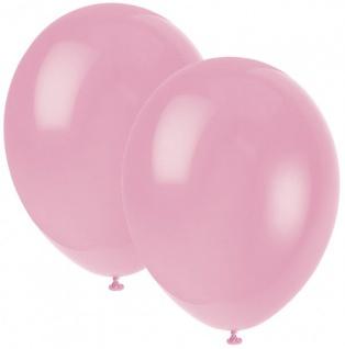 10 Luftballons rosa