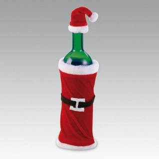 2 Teile Flaschenanzug Weihnachtsmütze und Mantel