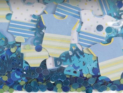Baby Shower Konfetti Blau