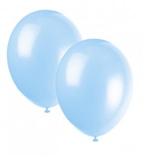 10 Luftballons Hellblau