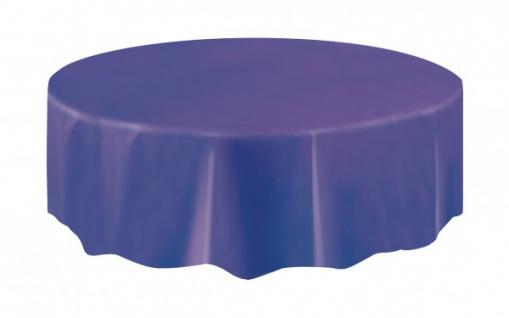 Runde Plastik Tischdecke Violett