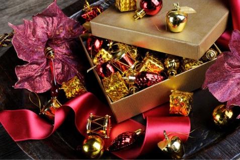 kleines Weihnachtspotpurri Set 14 Stück in Blau - Vorschau 2