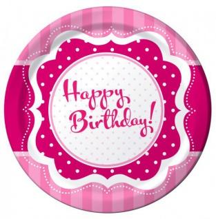 58 Teile zum 50. Geburtstag Party Set Perfectly Pink für 16 Personen - Vorschau 2