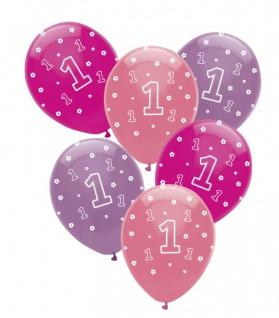 XL 42 Teile Erster Geburtstag Rosa Punkte Party Deko Set 8 Personen - Vorschau 5