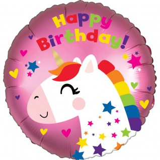 Geburtstags Folien Ballon Einhorn