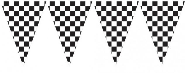 XXL Schwarz Weiß Wimpel Banner Formel 1