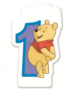 Winnie Puuh Zahlenkerze 1