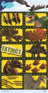 1 Bogen 3D Sticker Dinosaurier