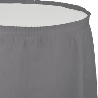 Plastik Tischrock Grau