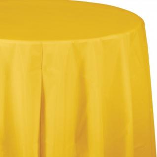 Plastik Tischdecke rund Sonnengelb