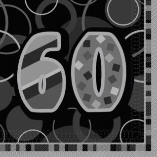 60. Geburtstag Party Servietten Schwarz
