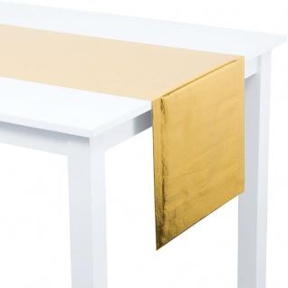 Tischläufer in glänzendem Gold Metallic