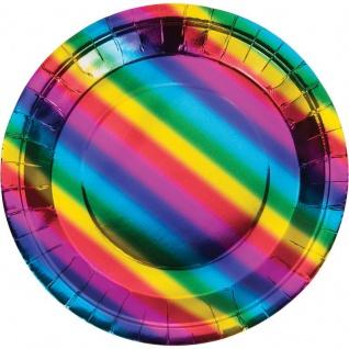 8 Teller schimmernder Regenbogen