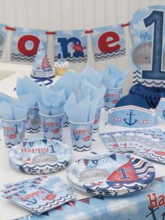 48 Teile Erster Geburtstag Maritim am Meer Party Deko Set 16 Personen - Vorschau 5
