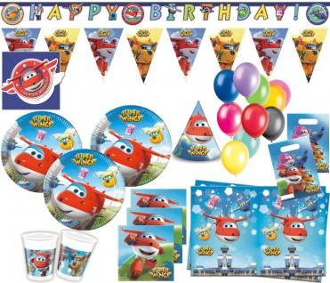 XXL 67 Teile Super Wings Party Deko Set 6 Kinder