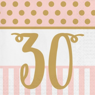 36 Teile Pink Chic Party Deko Set zum 30. Geburtstag in Rosa und Gold Glanz für 8 Personen - Vorschau 4