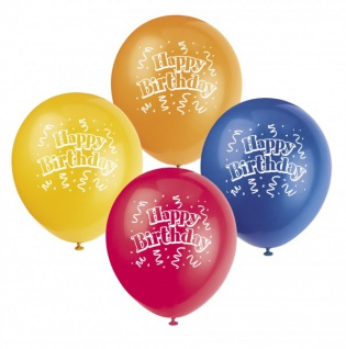8 Geburtstags Party Ballons