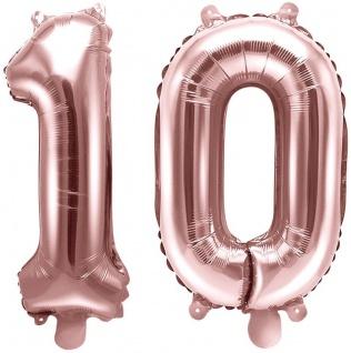 Folienballons Zahl 10 Rosegold Metallic 35 cm