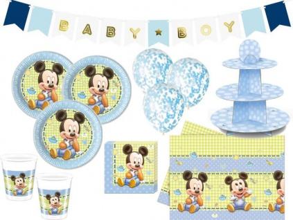 XL 44 Teile Disney Baby Micky Maus Baby Shower Party Deko Set 8 Personen