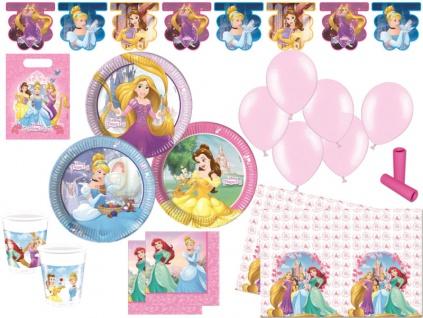 XL 61 Teile Disney's Princess Heart Party Set für 8 Kinder