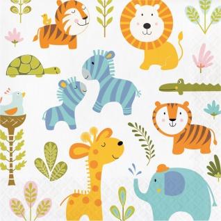 16 Servietten Baby Safari
