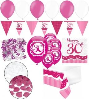XXL 35 Teile zum 30. Geburtstag Perfectly Pink für 18 Personen - Servietten