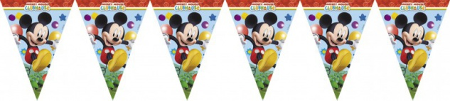 Micky Maus Clubhaus Wimpel Girlande