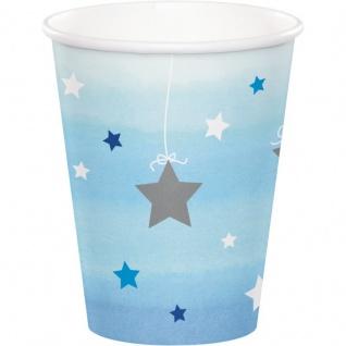 48 Teile Blinke Kleiner Stern Blau Party Deko Set 16 Personen für die Baby Shower oder Kindergeburtstag - Vorschau 3