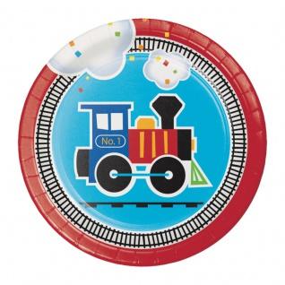 8 kleine Teller Eisenbahn Party