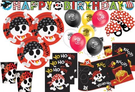 XL 58 Teile Piraten Spaß Party Deko Set 8 Kinder