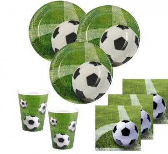 40 Teile Fußball Party Deko Set Eckball 10 Personen