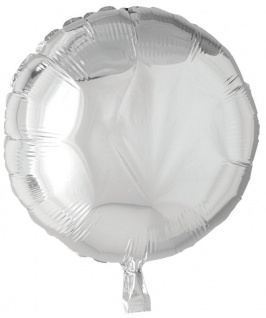 Folienballon Rund Silber 45cm