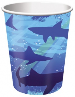 8 Haifisch Party Becher