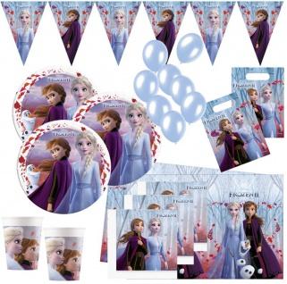 XL 52 Teile Die Eiskönigin 2 Party Deko Set für 6 Kinder