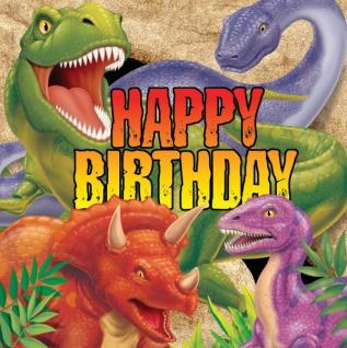 16 Dinosaurier Party Geburtstags Servietten