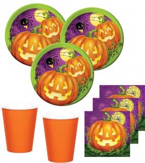 32 Teile kleines Fingerfood Halloween Deko Set Kürbis Leuchte 8 Kinder