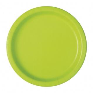 20 kleine Papp Teller Neon Grün