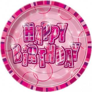 48 Teile Happy Birthday Geburtstag Party Set Pink 16 Personen - Vorschau 2