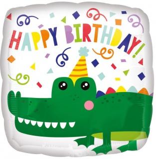 Geburtstags Folien Ballon Krokodil
