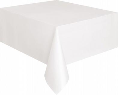Plastik Tischdecke weiß