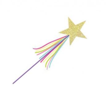Prinzessin Zauberstab mit goldenem Glitzer Stern